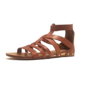 Steve Madden Drastik Tan leather Sandals, Size 10M
